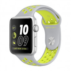 Apple Watch Nike+ 42mm Silver Aluminum Case with Silver/Volt Nike Sport Band - Silver Aluminum (MNYQ2)