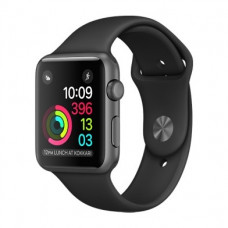 Apple Watch Series 2 42mm Space Gray Aluminum Case with Black Sport Band (MP062)
