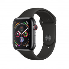 Apple Watch Series 4 GPS + LTE 44mm Black Steel w. Black Sport b. Black Steel (MTV52, MTX22)