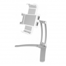 Macally Wall Mount and Countertop Stand for iPad/Tablet 4.7-11'' Silver (STANDWALLMOUNT)