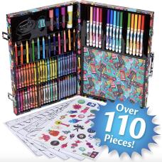 Crayola Trolls World Tour Inspiration Art Case, 110 Pieces (04-0912)