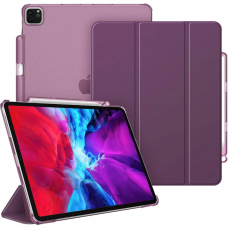 """CaseBot Case for iPad Pro 12.9"""" 4th & 3rd Generation 2020/2018 with Pencil Holder - Purple"""