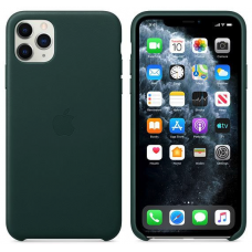 Apple iPhone 11 Pro Max Leather Case - Forest Green (MX0C2)
