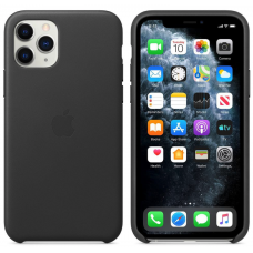 Apple iPhone 11 Pro Leather Case - Black (MWYE2)