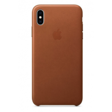 Apple iPhone XS Leather Case - Saddle Brown (MRWP2)
