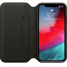 Apple iPhone XS Leather Folio - Black (MRWW2)