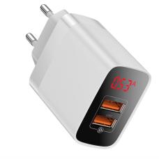 Baseus Quick Charge Dual USB - White (BS-E912)