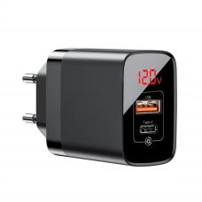 Baseus Quick Charge Type-C + USB - Black (BS-E911)