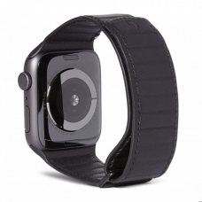 Decoded Leather Band Black for Apple Watch 42/44mm (D9AWS44TS1BK)