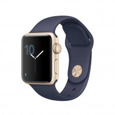 Apple Watch Series 2 38mm Gold Aluminum Case with Midnight Blue Sport Band (MQ132)