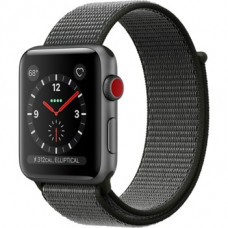 Apple Watch Series 3 GPS + Cellular 42mm Space Gray Aluminum w. Dark Olive Sport L. (MQK62)