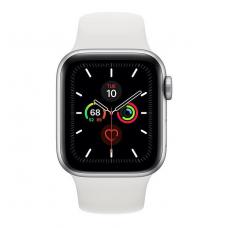 Apple Watch Series 5 GPS 40mm Silver Aluminum w. White b.- Silver Aluminum (MWV62)