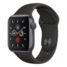 Apple Watch Series 5 LTE 40mm Space Gray Aluminum w. Black b.- Space Gray Aluminum (MWWQ2)