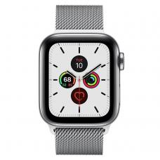 Apple Watch Series 5 LTE 40mm Steel w. Steel Milanese Loop - Steel (MWWT2)