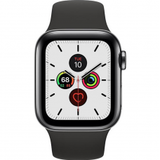 Apple Watch Series 5 LTE 40mm Space Black Steel w. Black b.- Space Black Steel (MWWW2)