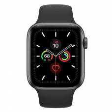 Apple Watch Series 5 LTE 44mm Space Gray Aluminum w. Black b.- Space Gray Aluminum (MWW12)
