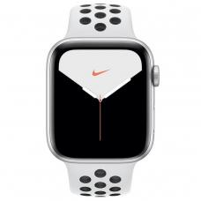 Apple Watch Series 5 Nike GPS + LTE 44mm Silver Aluminium w. Platinum/Black Nike Sport B. (MX392)