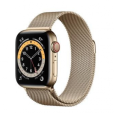 Apple Watch Series 6 GPS + Cellular 44mm Gold Stainless Steel Case w. Gold Milanese L. (M07P3)