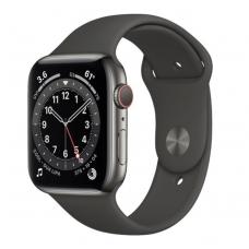 Apple Watch Series 6 GPS + Cellular 44mm Graphite Stainless Steel Case w. Black Sport B. (M07Q3)