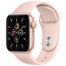 Apple Watch SE GPS 40mm Gold Aluminum Case w. Pink Sand Sport B. (MYDN2)